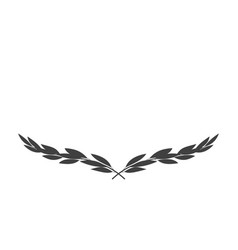 Wide laurel wreath icon isolated on white vector