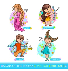 Zodiac signs 3 vector image