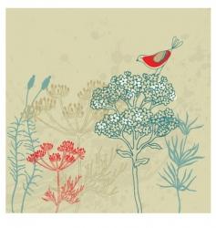 bird garden vector image vector image