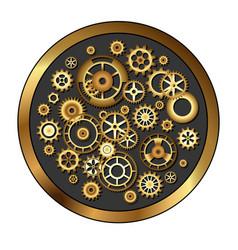 golden skeleton clockwork vector image