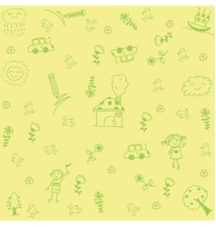 House and leaf doodle art vector image
