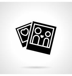 Love relationship concept black icon vector image vector image