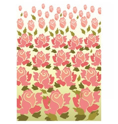 Rose flower pattern background vector image vector image