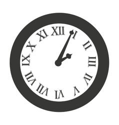 time clock roman numbers vector image