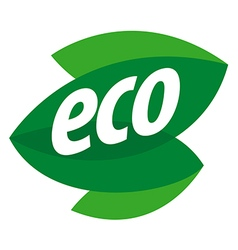 Abstract eco logo in the form of leaf vector image