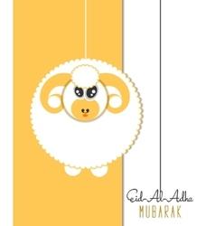 Eid-al-adha greeting card with sheep vector