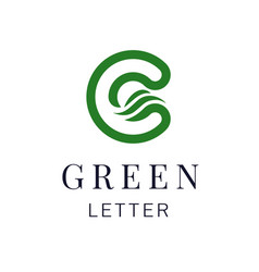 letter c eco leaves logo icon design template vector image