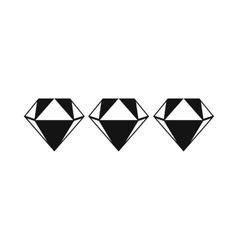 Three diamonds icon vector image