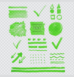 transparent highligter spots vector image vector image