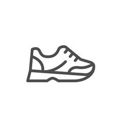 sneaker line icon vector image vector image