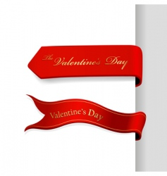 valentines day ribbons vector image vector image