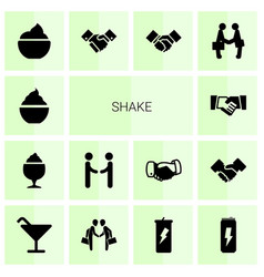 14 shake icons vector
