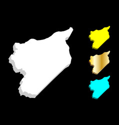 3d map of syria vector