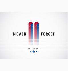 911 september 11 attacks conceptual logo banner w vector image