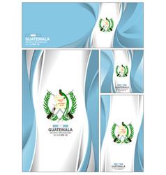 abstract guatemala flag banner brochure vector image
