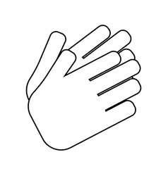 abstract hand expression vector image
