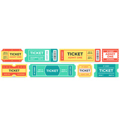 admit one tickets circus entries coupon retro vector image