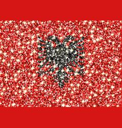 Albania sparkling flag vector