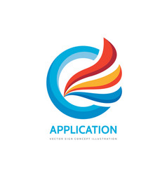 application - business logo template vector image