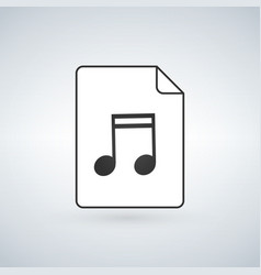 audio file icon on white background vector image