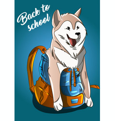 back to school summerautumn sale dog vector image