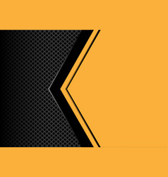 Black arrow on yellow blank space circle mesh vector