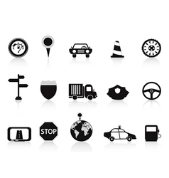 black traffic icon vector image