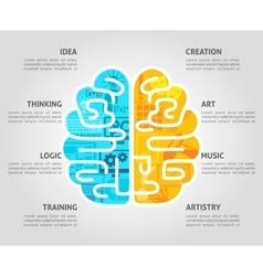 Brain Concept Flat vector image