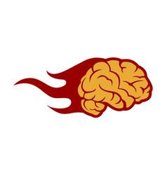 brain fire icon abstract logo vector image