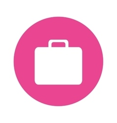 Briefcases business button image vector