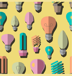 Bulb logo icons set pattern vector