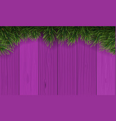 christmas with fir branch border frame on top vector image
