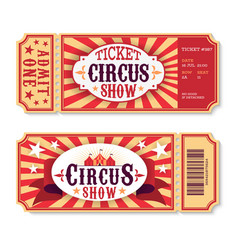 Circus tickets magic show entrance vintage paper vector