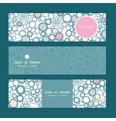 colorful bubbles horizontal banners set pattern vector image