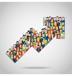 Concept attracting customers vector
