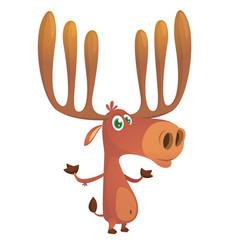 cool cartoon moose character vector image