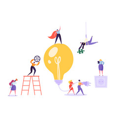creative idea brainstorming concept business vector image