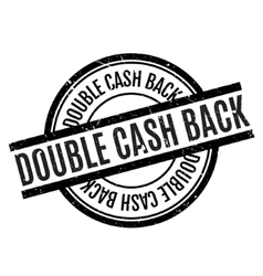 Double Cash Back rubber stamp vector image