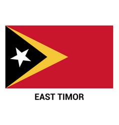 east timor flag design vector image