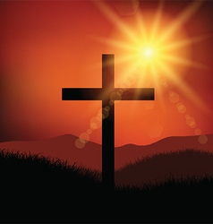 easter friday cross landscape 2602 vector image