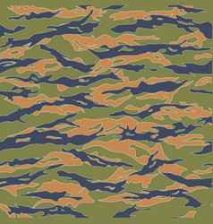 Ecuador tiger stripe camouflage seamless patterns vector