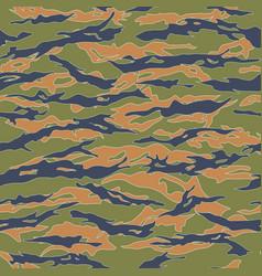 ecuador tiger stripe camouflage seamless patterns vector image