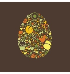 egg icons vector image