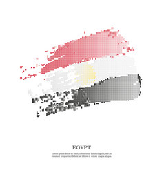 Egypt flag with halftone effect vector