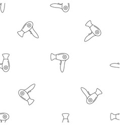 Fashion dryer pattern seamless vector
