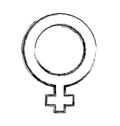 female gender symbol vector image vector image