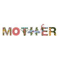 fonts for mothers day vector image