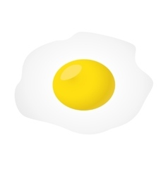 Fried egg isolated on white background vector