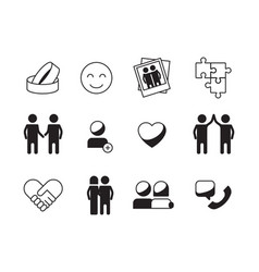 friendship icon love relationship symbols family vector image