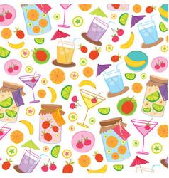 Fruit juice drink cute cartoon gift wrapping desig vector